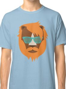 Cute Lion Hipster Animal With Funky Glasses Classic T-Shirt