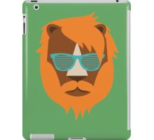 Cute Lion Hipster Animal With Funky Glasses iPad Case/Skin