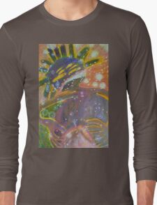 There's Death In Me Still - Abstract Portrait Long Sleeve T-Shirt