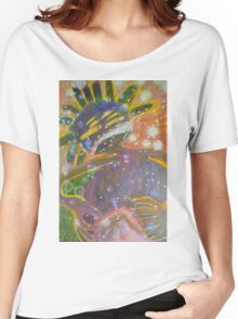 There's Death In Me Still - Abstract Portrait Women's Relaxed Fit T-Shirt