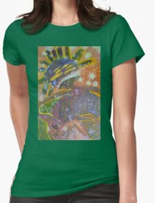 There's Death In Me Still - Abstract Portrait Womens Fitted T-Shirt