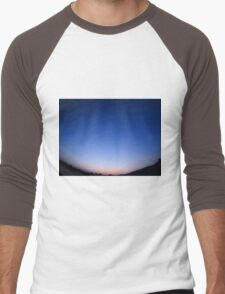 Clear skies over the city after sunset Men's Baseball ¾ T-Shirt