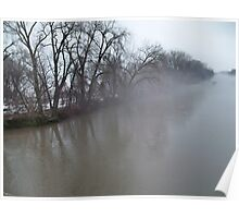 North side MN River bank before the flood FOG Poster