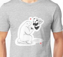 When A Polar Bear Loves A Panda Unisex T-Shirt