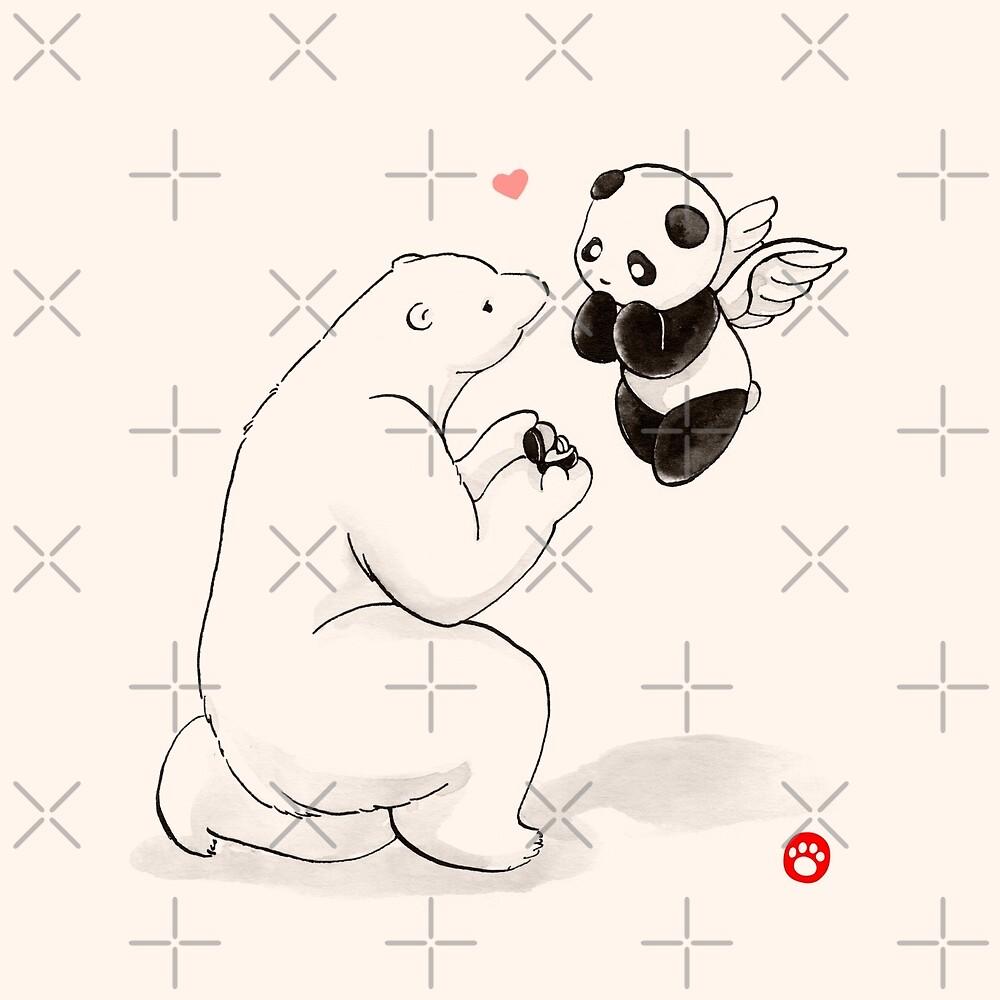 When A Polar Bear Loves A Panda by Panda And Polar Bear