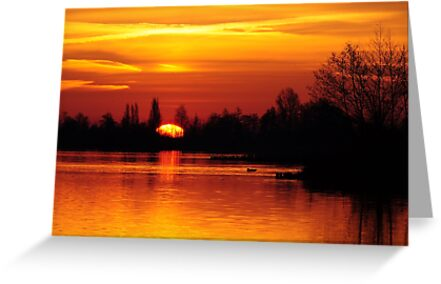 Rise and shine - sunrise over Reeuwijk by Javimage