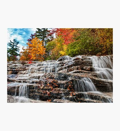 Cascading Down Photographic Print