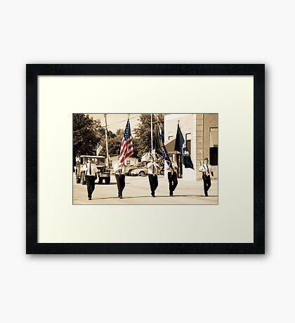 Small Town Hero's Framed Print