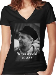 What would JC do Women's Fitted V-Neck T-Shirt