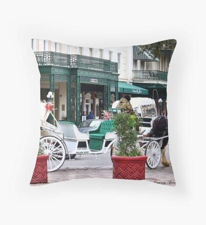 Anachronism - San Antonio Street Throw Pillow