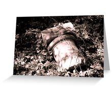 Fallen Stonework Greeting Card