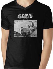 GRIM Mens V-Neck T-Shirt