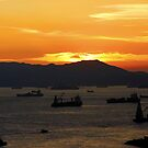 "A World Away: Hong Kong Harbor by Christine ""Xine"" Segalas"
