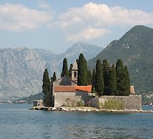 Island of Saint George, Bay of Kotor, Montenegro by Elena Skvortsova