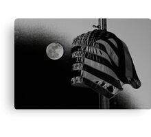 Glory in Black and Grey Canvas Print