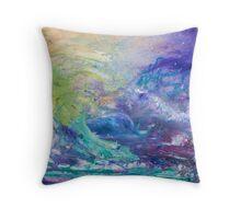 A Sea of Faces, abstract  Throw Pillow