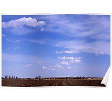 Blue sky over the plains of Colorado Poster