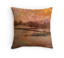 Rockefeller State Park Grunged Throw Pillow