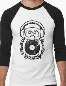 Hip Hoot Men's Baseball ¾ T-Shirt