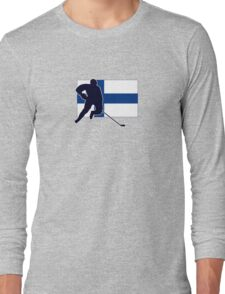 I Love Suomi ~ Finland Hockey Flag T-Paidat Shirt Long Sleeve T-Shirt