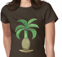 Chubby Palm Tree Womens Fitted T-Shirt