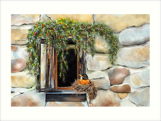 Robin in the Window by Renee Dawson