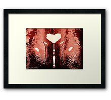 INKBLOT HEART Framed Print