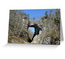 Natural Bridge in Shenandoah Valley, VA Greeting Card