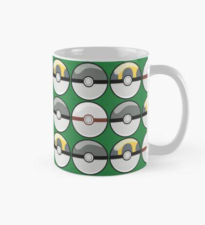 Gray and Yellow Pokeballs Mug
