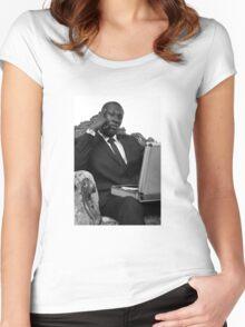 STORMZY SUIT PORTRAIT Women's Fitted Scoop T-Shirt