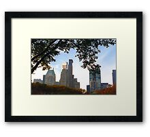 NYC View from Central Park Autumn Foliage Framed Print