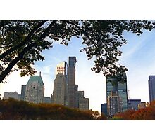 NYC View from Central Park Autumn Foliage Photographic Print
