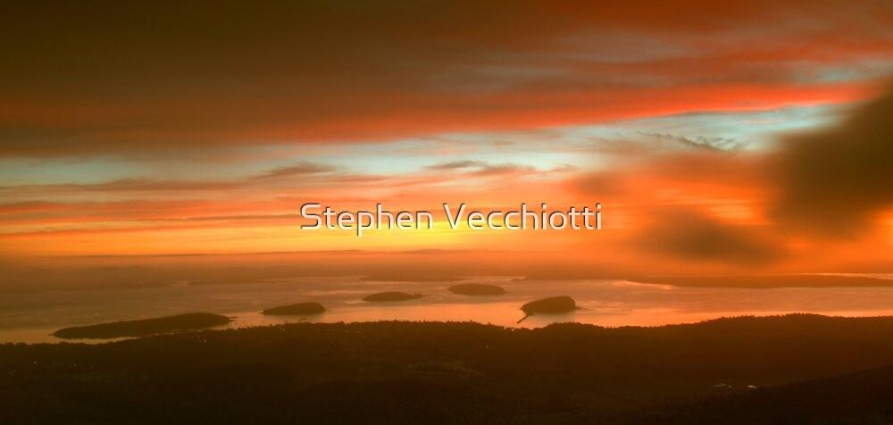 Cadillac Mountain Sunrise  by Stephen Vecchiotti