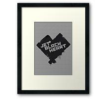 5 Seconds of Summer - Jet Black Heart Framed Print