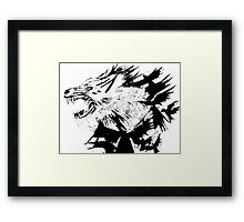 the wolf and the crow Framed Print