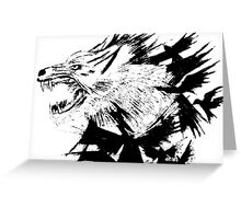 the wolf and the crow Greeting Card