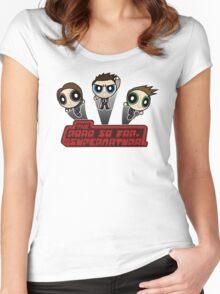 Supernatural Puffs Parody Women's Fitted Scoop T-Shirt