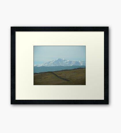 Pikes Peak ..headed south Framed Print