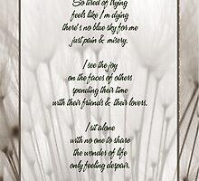 I sit alone... poem by michellerena
