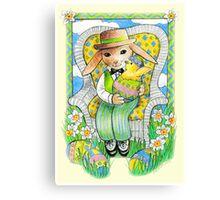 Easter Rabbit's Surprise  Canvas Print