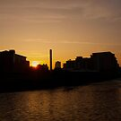 River Aire sunset. by Mbland