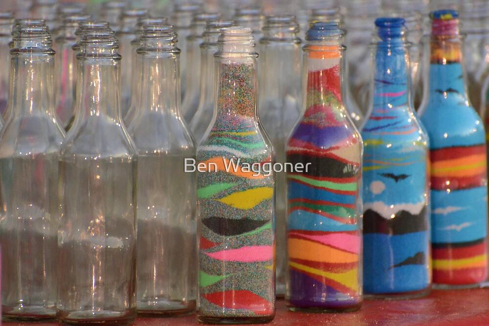 Sand art bottles by Ben Waggoner
