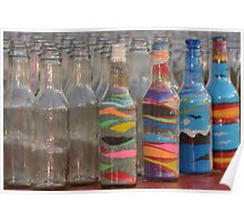 Sand art bottles Poster