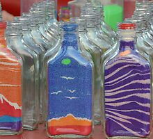 Sand art flasks by Ben Waggoner