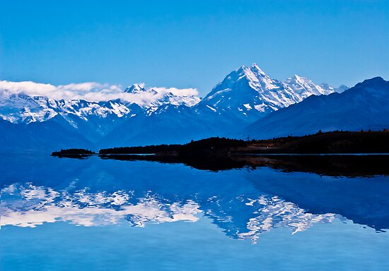 Lake Pukaki with Mount Cook backdrop by Sheila  Smart