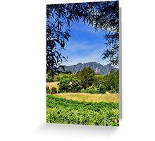 Australia, Tasmania Lake Barrington Vineyard Greeting Card