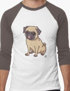 PUG (pink) Men's Baseball ¾ T-Shirt