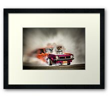 FRYZEM burnout Framed Print