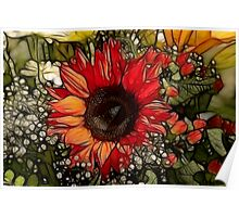 cheerful bouquet Poster