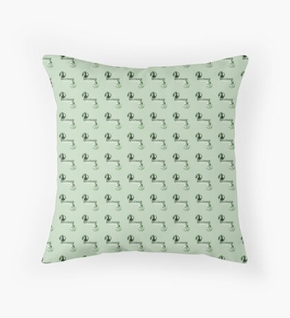 Mystrade Pattern Green Throw Pillow